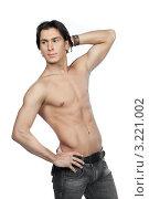 Купить «Молодой мужчина с обнажённым торсом», фото № 3221002, снято 27 января 2012 г. (c) Михаил Иванов / Фотобанк Лори