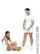 Купить «Спортивная пара», фото № 3221098, снято 28 января 2012 г. (c) Михаил Иванов / Фотобанк Лори