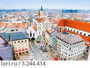 Купить «Старая ратуша. Вид со смотровой площадки. Мюнхен. Бавария. Германия», фото № 3244414, снято 9 января 2012 г. (c) Екатерина Овсянникова / Фотобанк Лори