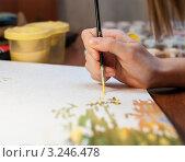 Купить «Рисование рисунка», эксклюзивное фото № 3246478, снято 3 февраля 2012 г. (c) Игорь Низов / Фотобанк Лори