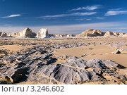 Пейзаж со скалами в  Белой пустыне, Египет (2012 год). Стоковое фото, фотограф Николай Винокуров / Фотобанк Лори