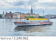 Прогулочный пароход и набережная острова Gamla Stan. Стокгольм, Швеция. (2008 год). Стоковое фото, фотограф Jelena Dautova / Фотобанк Лори