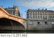 Набережная Сены у моста Понт Роял. Париж, Франция. (2006 год). Стоковое фото, фотограф Jelena Dautova / Фотобанк Лори