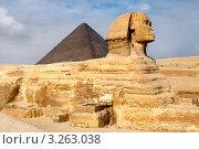 Купить «Вид на статую Большого сфинкса и Пирамиду Микерина, Каир, Египет», фото № 3263038, снято 20 января 2012 г. (c) Николай Винокуров / Фотобанк Лори