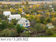 Купить «Дачи осенью», фото № 3265922, снято 10 октября 2011 г. (c) Светлана Кузнецова / Фотобанк Лори