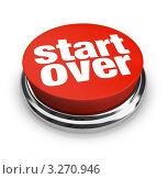 """Купить «Красная кнопка """"Начать заново""""», иллюстрация № 3270946 (c) Chris Lamphear / Фотобанк Лори"""