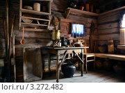 Интерьер крестьянской кухни. Стоковое фото, фотограф Julia Ovchinnikova / Фотобанк Лори