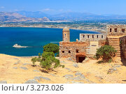 Купить «Паламиди замок в Нафплионе, Греция», фото № 3273026, снято 20 июня 2019 г. (c) Sergey Borisov / Фотобанк Лори
