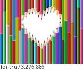 Купить «Сердце из карандашей», иллюстрация № 3276886 (c) Лагутин Сергей / Фотобанк Лори
