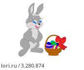 Пасхальный кролик. Стоковая иллюстрация, иллюстратор Воробьева Надежда / Фотобанк Лори