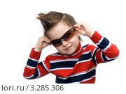 Мальчик в солнцезащитных очках. Стоковое фото, фотограф юлия юрочка / Фотобанк Лори