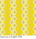 Желтый фон с декоративным узором. Стоковая иллюстрация, иллюстратор Юлия Петрова / Фотобанк Лори
