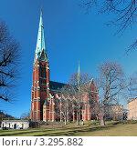 Купить «Церковь Святого Иоанна в Стокгольме, Швеция», фото № 3295882, снято 26 февраля 2012 г. (c) Михаил Марковский / Фотобанк Лори