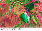 Хаотичные разноцветные разводы. Стоковое фото, фотограф Каменева Лариса / Фотобанк Лори