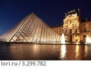 Купить «Вид на стеклянную пирамиду Лувра во дворе Наполеона и павильон Ришелье, Париж, Франция», фото № 3299782, снято 1 января 2010 г. (c) Losevsky Pavel / Фотобанк Лори