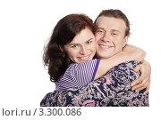Купить «Влюбленная пара. Молодая женщина обнимает мужчину», фото № 3300086, снято 4 апреля 2010 г. (c) Losevsky Pavel / Фотобанк Лори