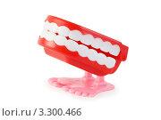 Купить «Забавная игрушка: заводная челюсть», фото № 3300466, снято 28 сентября 2010 г. (c) Losevsky Pavel / Фотобанк Лори