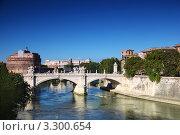 Купить «Замок Святого Ангела  и Понте Витторио Эмануэле II в Риме, Италия», фото № 3300654, снято 7 июня 2020 г. (c) Losevsky Pavel / Фотобанк Лори