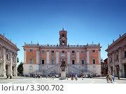 Купить «Площадь перед Дворцом Сенаторов в Риме», фото № 3300702, снято 2 августа 2010 г. (c) Losevsky Pavel / Фотобанк Лори