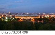 Купить «Лужники вечером, панорама Москвы с Воробьевых гор», фото № 3301098, снято 11 октября 2010 г. (c) Losevsky Pavel / Фотобанк Лори