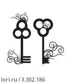 Старые ключи. Стоковая иллюстрация, иллюстратор Вероника Румко / Фотобанк Лори