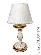 Настольная лампа на белом фоне. Стоковое фото, фотограф Левончук Юрий / Фотобанк Лори
