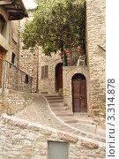 Улочка г. Асизи, Италия (2011 год). Стоковое фото, фотограф Серебрякова Анастасия / Фотобанк Лори