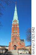 Купить «Церковь Святого Иоанна в Стокгольме, Швеция», фото № 3321042, снято 26 февраля 2012 г. (c) Михаил Марковский / Фотобанк Лори