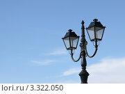 Городской фонарь на фоне неба. Стоковое фото, фотограф Екатерина Романова / Фотобанк Лори