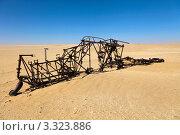 Купить «Остов разбившегося летательного аппарата, затерянного в песках пустыни Сахара», фото № 3323886, снято 27 января 2012 г. (c) Николай Винокуров / Фотобанк Лори