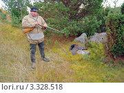 Купить «Охотник и тетерев-косач», фото № 3328518, снято 8 октября 2010 г. (c) макаров виктор / Фотобанк Лори