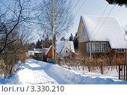Дачный поселок зимой. Стоковое фото, фотограф Екатерина Жукова / Фотобанк Лори