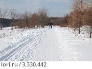 Лыжня в парке (2012 год). Редакционное фото, фотограф Сергей Родин / Фотобанк Лори
