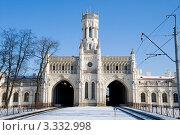 Новый Петергоф. Железнодорожный вокзал (2012 год). Стоковое фото, фотограф Александр Щепин / Фотобанк Лори