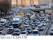 Вечерняя пробка на Ленинградском шоссе, фото № 3334178, снято 15 ноября 2011 г. (c) Андрей Ерофеев / Фотобанк Лори