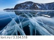 Купить «Байкальский ледовый пейзаж», фото № 3334518, снято 9 марта 2012 г. (c) Виктория Катьянова / Фотобанк Лори