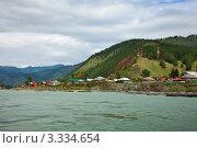 Купить «Село Чемал на берегу реки Катуни», фото № 3334654, снято 23 июля 2011 г. (c) Яков Филимонов / Фотобанк Лори