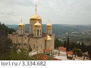 Купить «Горненский женский монастырь Русской Духовной Миссии в Иерусалиме. Израиль», фото № 3334682, снято 26 февраля 2012 г. (c) Gagara / Фотобанк Лори