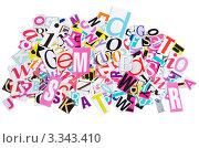 Купить «Разноцветные буквы, вырезанные из журнала», фото № 3343410, снято 6 июля 2020 г. (c) Воронин Владимир Сергеевич / Фотобанк Лори