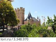 Алькасар. Дворец и крепость испанских королей в исторической части города Сеговия, Испания (2010 год). Редакционное фото, фотограф Татьяна Королева / Фотобанк Лори