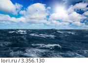 Купить «Шторм на море», фото № 3356130, снято 23 января 2009 г. (c) Игорь Чайковский / Фотобанк Лори