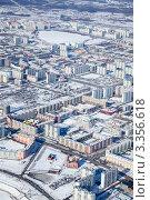 Нижневартовск. Вид сверху. Зима (2012 год). Стоковое фото, фотограф Владимир Мельников / Фотобанк Лори