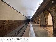 Новая станция метро, Алма-Ата, Казахстан (2012 год). Стоковое фото, фотограф Наталья Чуб / Фотобанк Лори