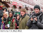 Купить «Журналисты на Арбате в День святого Патрика. 2012 год», эксклюзивное фото № 3362402, снято 17 марта 2012 г. (c) Алёшина Оксана / Фотобанк Лори