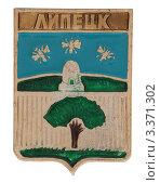 Купить «Значок и изображением герба города Липецка», фото № 3371302, снято 19 марта 2012 г. (c) Грачев Игорь / Фотобанк Лори