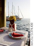 Ресторан на берегу. Стоковое фото, фотограф Наталья Гаврилястая / Фотобанк Лори