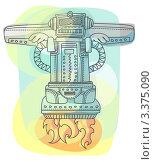 Летающий робот. Стоковая иллюстрация, иллюстратор Войнова Елена / Фотобанк Лори