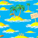 Бесшовный фон с морем и пальмами на островах, иллюстрация № 3379046 (c) Катыкин Сергей / Фотобанк Лори