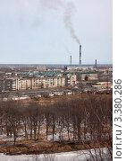Купить «Биробиджан, вид на ТЭЦ», эксклюзивное фото № 3380286, снято 24 марта 2012 г. (c) Дмитрий Фиронов / Фотобанк Лори