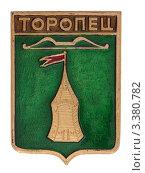Купить «Значок с изображением герба города Торопец», фото № 3380782, снято 19 марта 2012 г. (c) Грачев Игорь / Фотобанк Лори
